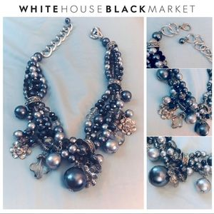 WHBM - Crystal Beaded Statement Necklace